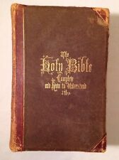HOLY BIBLE & HOW TO UNDERSTAND IT PICTURES C.1869 HITCHCOCK'S COMPLETE ANALYSIS