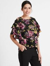 Fitted Floral Tops & Shirts for Women with Ruffle