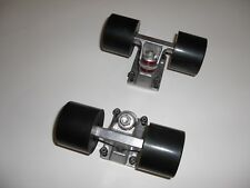 Ejes con Ruedas Skateboard Longboard Mini Skate tipo Penny - ruedas negras
