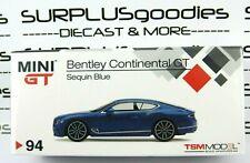 Tsm Model Mini-Gt 1:64 Overseas Edition 2018 Bentley Continental Gt Sequin Blue