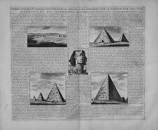 Carte antique, description des PIRAMIDES d'Egypte