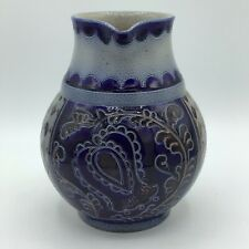 Vintage Reinhold Merkelbach German Salt Glazed 1 1/2 Liter Pitcher Cobalt Blue