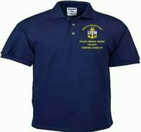 PACIFIC MISSILE RANGE FACILITY*HI *NAVY EMBROIDERED LIGHT WEIGHT POLO SHIRT