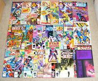 Large Bundle Joblot Of Vintage Marvel Comic Books X-Men New Mutants X-Factor Etc