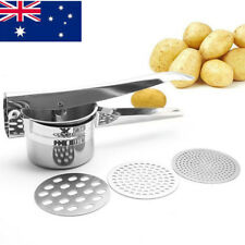 Potato Ricer and Masher 3 Ricing Discs Stainless Steel Food Press Food Strainer