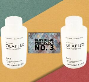OLAPLEX No 3 HAIR PERFECTOR 100ml x 2- BRAND NEW AND SEALED-TAKE HOME TREATMENT
