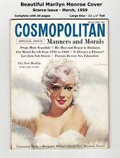 1959 COSMOPOLITAN - BEAUTIFUL MARILYN MONROE COVER - VERY SCARCE - COMPLETE