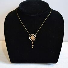 Chocolate Diamonds Gold Pendant Necklace Abbey Collection