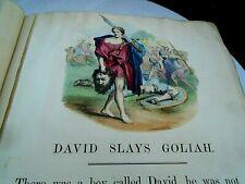 More details for large victorian scrap album of religous pictures,parables,etc