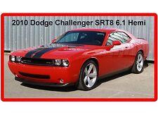 Dodge Challenger SRT-8 6.1 Hemi Red  Refrigerator / Tool Box  Magnet