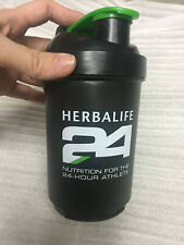 New 500ml 18OZ Herbalife 24 Water Bottle Cup Outdoor Sports Blender Shake, Black
