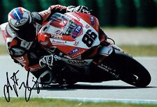 Ayrton BADOVINI SIGNED Autograph Italian Superbike Racer 12x8 Photo AFTAL COA