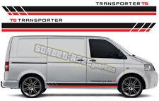 VW Volkswagen Transporter 012 T4 T5 de Gráficos Pegatinas Rayas caravanas Racing