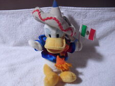 "DISNEY PARKS MEXICO DONALD DUCK 9"" PLUSH BEAN BAG TOY"