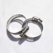 VESPA -  CARBURETTOR AIR HOSE PIPE CLAMP/ CLIP SET - STAINLESS STEEL