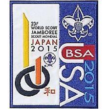 "BOY SCOUT 2015 WORLD JAMBOREE JAPAN JUMBO 5"" X 6"" LOGO LICENSED JACKET PATCH NEW"