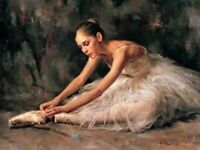 ZOPT597 hand painted dancing ballet girl portrait oil painting home art canvas