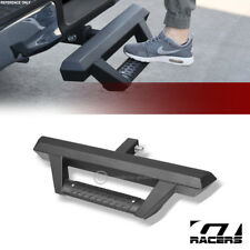 "2"" Matte Black Rear Bumper Hitch Receiver Hoop Drop Down Step Bar For Toyota"