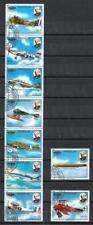 Avions Paraguay (32) série complète de 9 timbres oblitérés