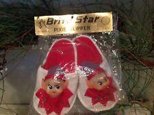 Vintage Christmas Pixie Slipper Ornament Brite Star Japan NIP