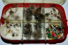 Little Case W/150+ Hand Tied Flys In Excellent Condition ~No Rusty Hooks~ Tiny!