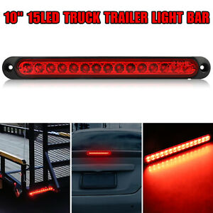 Universal Red 15LED 3RD Brake Stop Turn Tail Lights For Truck Trailer Waterproof