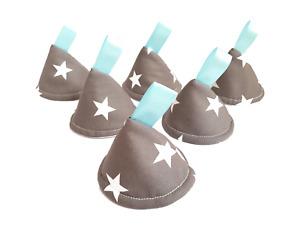Grey Star Pee Pee TeePee x 6 // Wee Stop Cones Teepees // Boy Baby Shower Gift