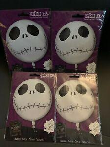 Lot of 4 Jack Skellington Nightmare Before Christmas Orbz XL Foil Balloon
