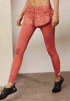 adidas Women's X Stella McCartney Tie Waist Layered Short Tights Pink Fashion