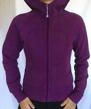 LULULEMON Size 4 Scuba Hoodie Zip Up Sweatshirt Jacket Purple Run Yoga VGUC