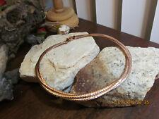 Rose Gold tone Bronze Italy DYADEMA Logo Collar necklace