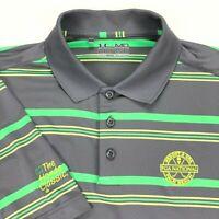 Under Armour Polo Shirt Honda Classic PGA Loose Yellow Green Stripe • Medium