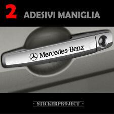 2 Adesivi Mercedes Benz MANIGLIA stickers door handle DECAL