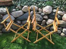 Set of 2 VTG Gold Medal WOOD CANVAS FOLDING DIRECTORS CHAIR SEAT *no seats*