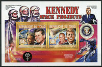 Chad 2013 MNH JFK John F Kennedy Neil Armstrong 2v Deluxe M/S Space Stamps