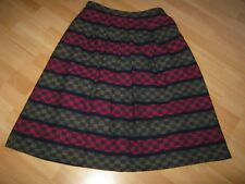 STUNNING ~VINTAGE PLANET~16~ 30 in ~100%  NEW WOOL-  CHECK PLEATED ~SKIRT