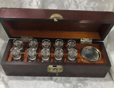 G.P. Pilling & Son Co. Vintage Medical Bottles Set in Wooden Case