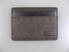 b300be98878e Michael Kors $135 Brown CARD CASE MEN Leather Wallet ID CARD CASE SALE Y08