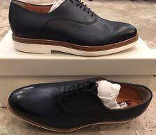 $700 New Santoni Mens Blue Shoes Size 7 US 6 UK 40 EU
