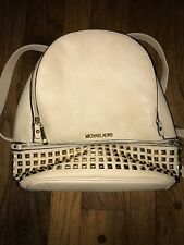 Michael Kors Leather Backpack Creme Color With Gold Studs !