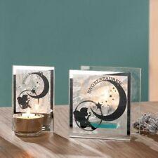Gilde Deko Glas Teelichthalter Engelszauber Teelicht Engel Frost-Design 2er Set