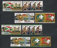 Burundi: Scott 460-463,C199-C202 in pairs, mint NH. BD14