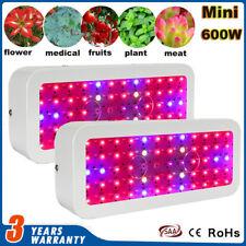 2× 600W Watt Full Spectrum LED Grow Light Kits Lamp Indoor Plant Veg Hydroponics