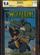Wolverine #14 CGC 9.4 SS Bill Sienkiewicz 1989 JOHN BUSCEMA Kevin Nowlan