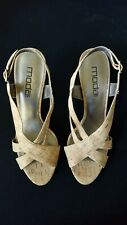 Moda Spana Cork Heel Sandals Open Toe Strap Buckle US Size 10 M NEW