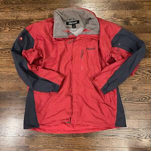 Marmot Insulated Ski Snowboard Winter Jacket Red Parka Men's XL