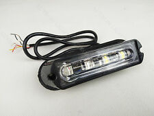 2Pcs 4 LED COB Amber Flash Grill Strobe Emergency Warning Side lamp Work light