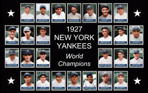 1927 NEW YORK YANKEES Team Photo POSTER Babe Ruth Lou Gehrig Murderers Row Decor