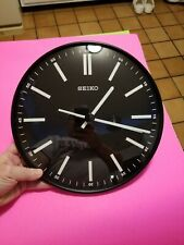 Seiko Round Black Wall Clock QXA521JLH new open box