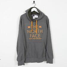 Vintage The North Face Big Logo Hoodie Sudadera Gris | L Grande